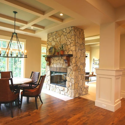 Double Sided Fireplace Design, Pictures, Remodel, Decor and Ideas
