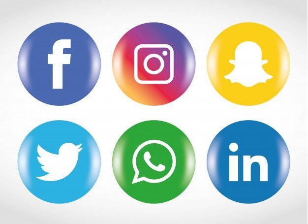 Freepik Graphic Resources For Everyone Social Media Icons Social Icons Media Icon