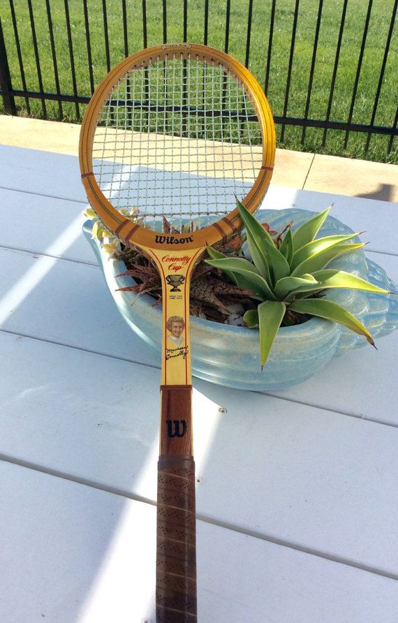 Vintage Wilson Maureen Connolly Tennis Racket by YellowHouseDecor