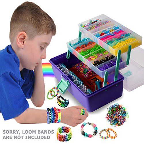 LOOM LOVER – Best Rainbow Organizer & Loom Storage !NEW! – PURPLE/SAGE – Rainbow Loom Perfect Fit – Sturdy Fold-out Trays – Storage Underneath. Yes, 31.75 X 17 Inches Usable Space! Rubber Band Case – Kids Art Craft Organizer. Lift-up Handle – Ergonomically Balanced – Even for Small Hands. The Compact Solution When on Vacation! – Citrus-Orange Protective Working Mat – Quality Organizer by Felix and Wise – Order Yours Now. | Best Kid Store
