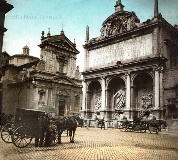 La Fontana, o Mostra dell'Acqua Felice o anche Fontana del Mosè Anno: 1897
