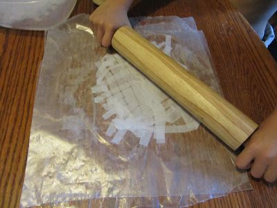 Making papyrus for an Egypt study. @Whitney Henderson