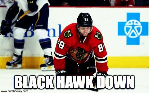 Big loss for the Blackhawks as Kane goes down for a few weeks at the wrong time. #BlackHawkDown