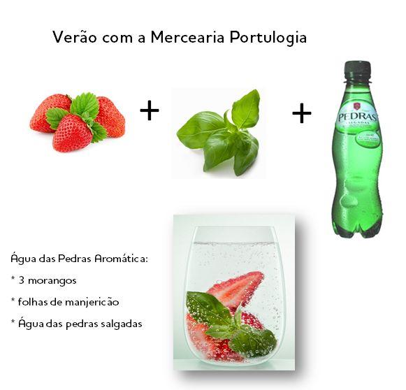 Água das Pedras - refresca o verão de forma natural. #portulogia #cocktails #recipe
