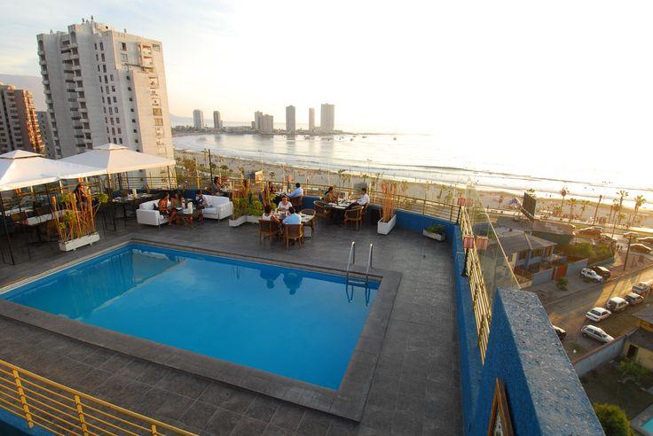 Panorámica Cavancha desde Ikebana Japanese Cuisine, 8vo piso de Hotel Sunfish, Iquique-Chile.