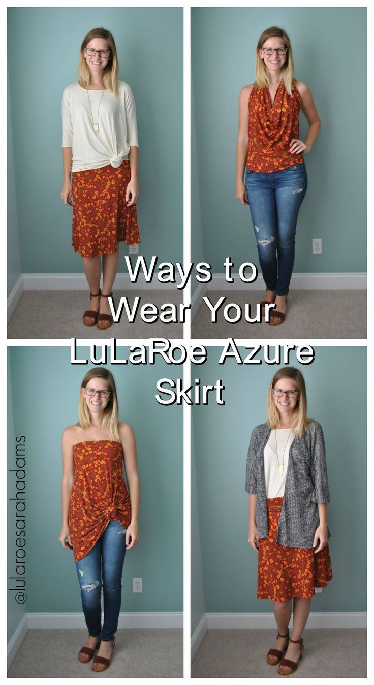 LuLaRoe Azure Skirt: How to Wear & Style // Shop LuLaRoe Sarah Adams: facebook.com/groups/llrsarahadams