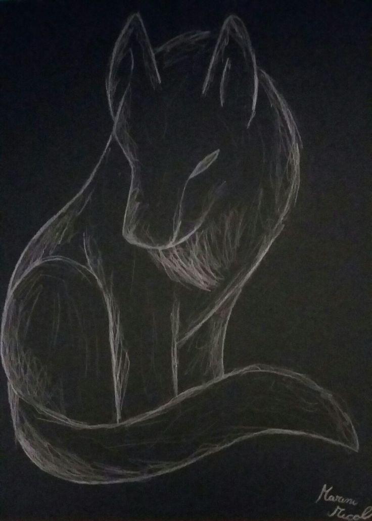 lupo su foglio nero 30 minuti