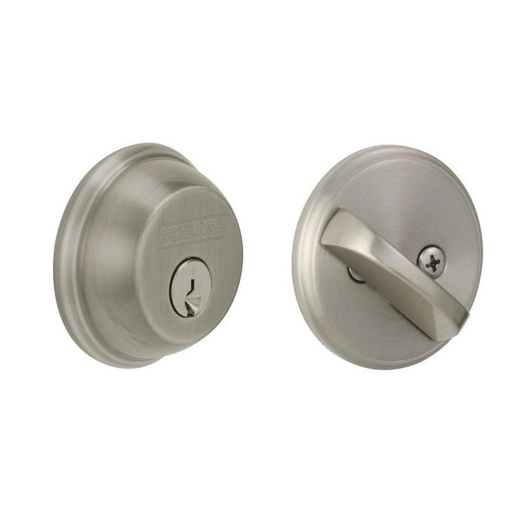 Schlage B60 Antique Pewter 1 Deadbolt - Use with Torino Handle