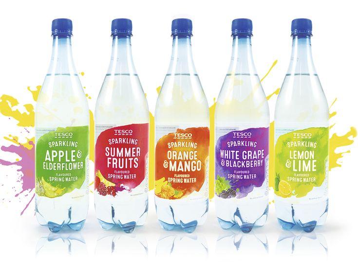 Tesco Flavoured Water — The Dieline - Package Design Resource