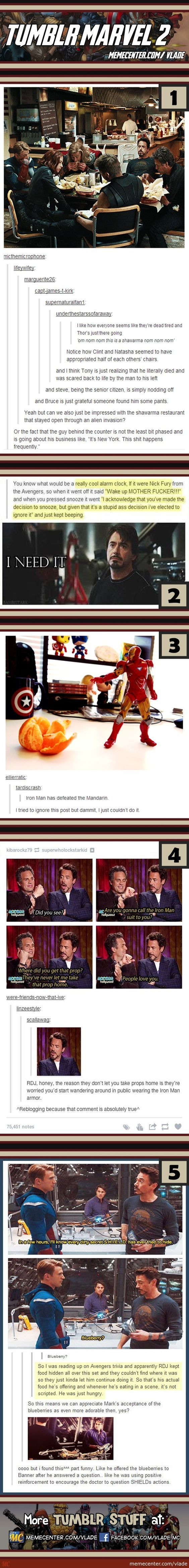 Tumblr Marvel #2...I apologize in advance for the language, but some of these are funny lol: