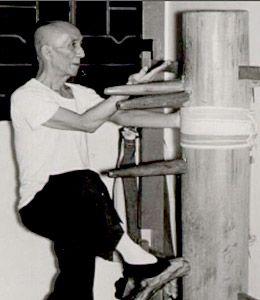 Yip Man on the Wing Chun dummy,a true master.