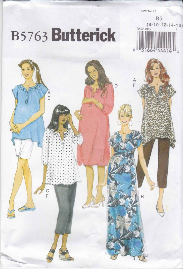 176 best maternity clothes moonwishes patterns images on buttericksewingbutterick sewing pattern 5763 womens plus size easy maternity wardrobe top dress pants ombrellifo Images