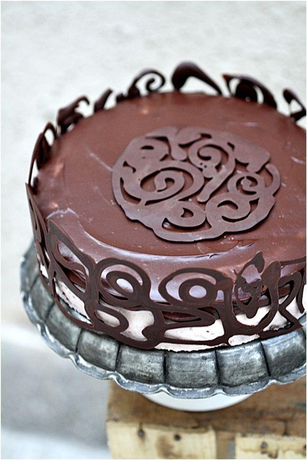 Dark Chocolate, Raspberry & Quark Layered Cake from @Deeba Rajpal