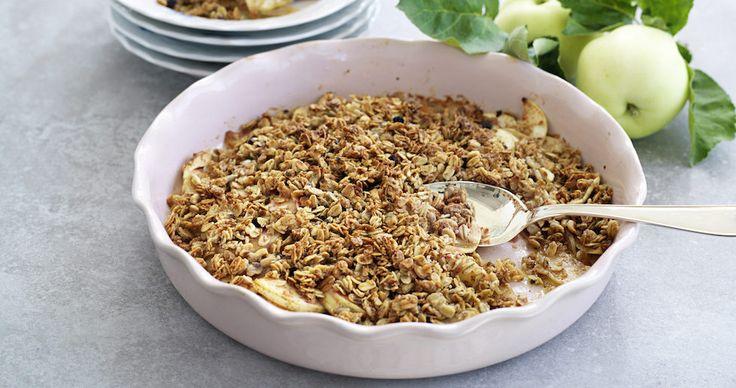 Äppelpaj med granola
