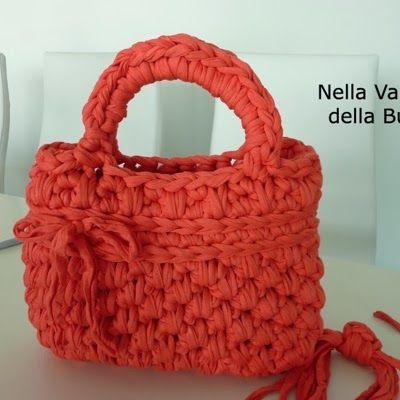 Patrones trapillo tutorial bolso de trapillo totora o for Bolso crochet trapillo
