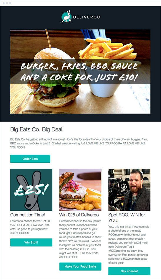 Email Blast Templates | The Best Email Marketing Campaigns Of 2015 Deliveroo