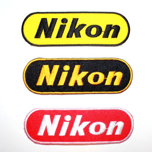 Nikon-Professional-digital-Camera-Lens-Photographer-Jacket-T-Shirt-Iron-on-patch