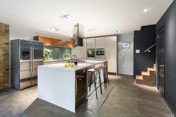 Bespoke New Basement Kitchen, Kingston, London - contemporary - Kitchen - Other Metro - Casey & Fox