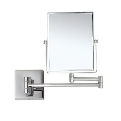 Photo On Nameeks Nameeks Glimmer Double Face Magnification Wall Mounted Makeup Mirror Satin Nickel Find out more about the great product at the image link