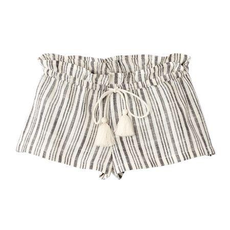 Barcelona Shorts (Ivory Stripe) By Polder Girl   Juniper Baby + Kids
