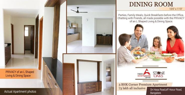 Privacy of an L-shaped Living and Dining Space #hosaroad #stoneoaks #luxuryapartments #bangaloreapartment #builders #interiorimages