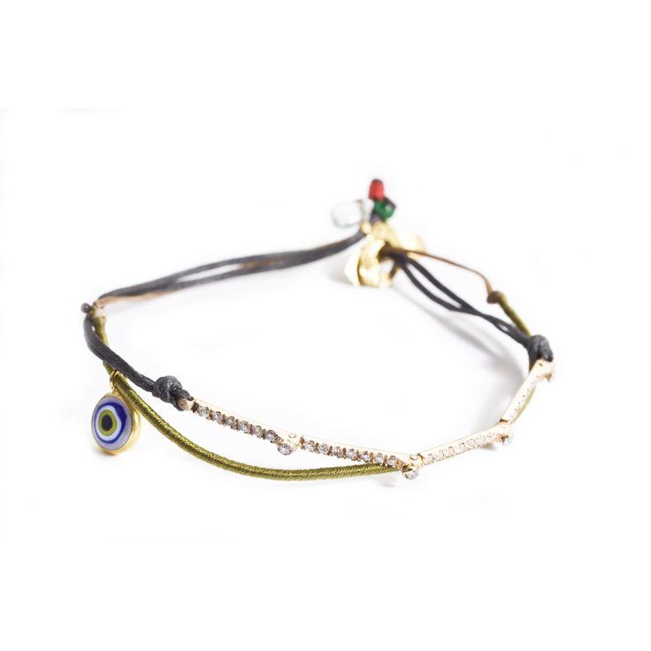 Apriati riviera bracelet with an evil eye. www.apriati.com