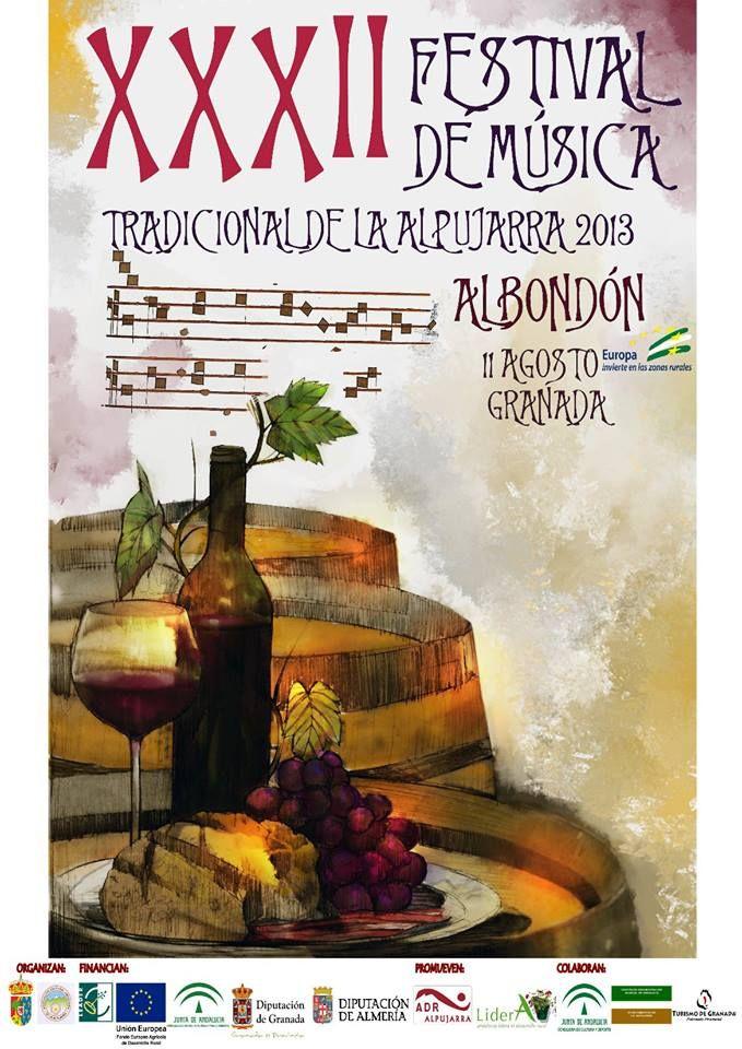 Cartel. Obra de D. Antonio Gallego Uvero Vive Alpujarra