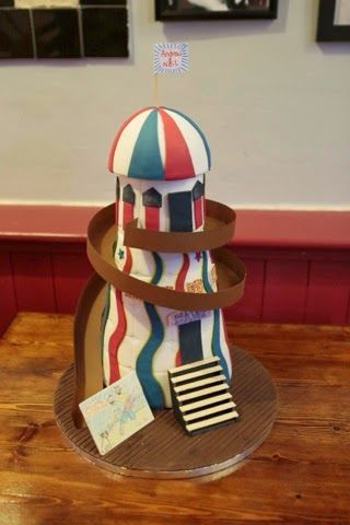Kasserina: Brighton Helter Skelter wedding cake March 2014