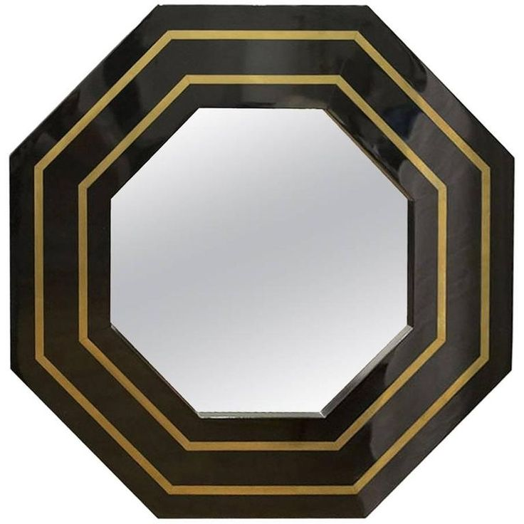 French Art Deco Octagonal Wall Mirror, circa 1950s | From a unique collection of antique and modern wall mirrors at https://www.1stdibs.com/furniture/mirrors/wall-mirrors/