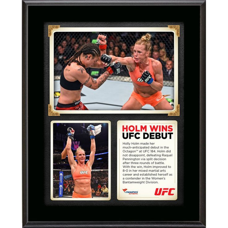 Holly Holm Ultimate Fighting Championship Fanatics Authentic 10 5