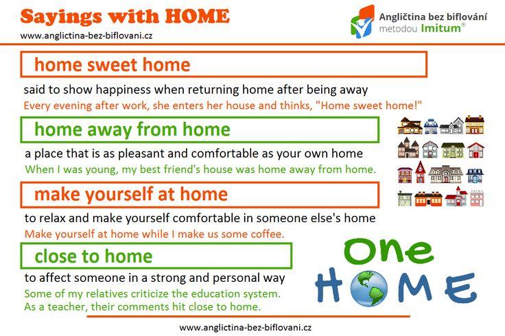 """Na konci dnešního posledního pracovního dne se lidé budou vracet domů (anglicky """"head home""""). Podívejte se na další užitečná slovní spojení se slovem HOME.    #home"""