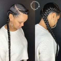 "5,811 Likes, 183 Comments - Queen Me Tresses By PJ✨ (@i.pj) on Instagram: ""OOOUUU✨ • • • Book: 2 Feed In Braids #NaturalHair #ProtectiveStyles #ChicagoStylist…"""
