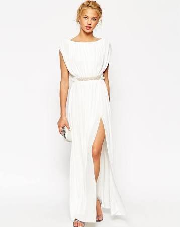 vestidos largos baratos blancos - Buscar con Google