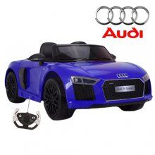 12v licensed audi r8 spyder ride on car for kidsin moonlight blue