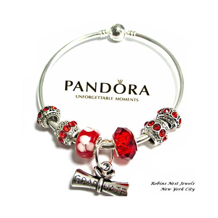Authentic Pandora Graduation Bracelet Bangle Charm