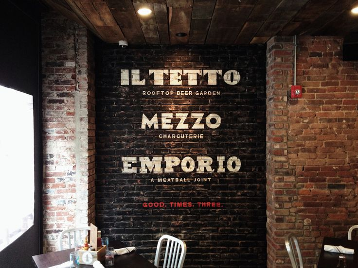 painted brick restaurant sign - Google Search