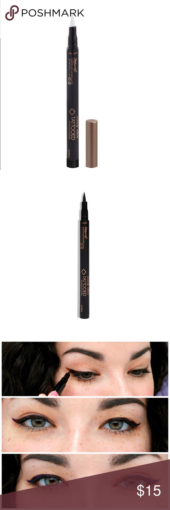 🌹🎊🎊skone insanely intense tattooed eyeliner 🌺 Brand new insanely intense tattooed eyeliner is a liquid waterproof eyeliner with a felt tip pen applicator is perfect for.  Wings, lining your lids, or creating a sexy cat 🐱 eye ,   Pigmented , water proof , and smudge proof liner that stays on all day !!!!🎉🎉🎉🎉🎉 skone Makeup Eyeliner