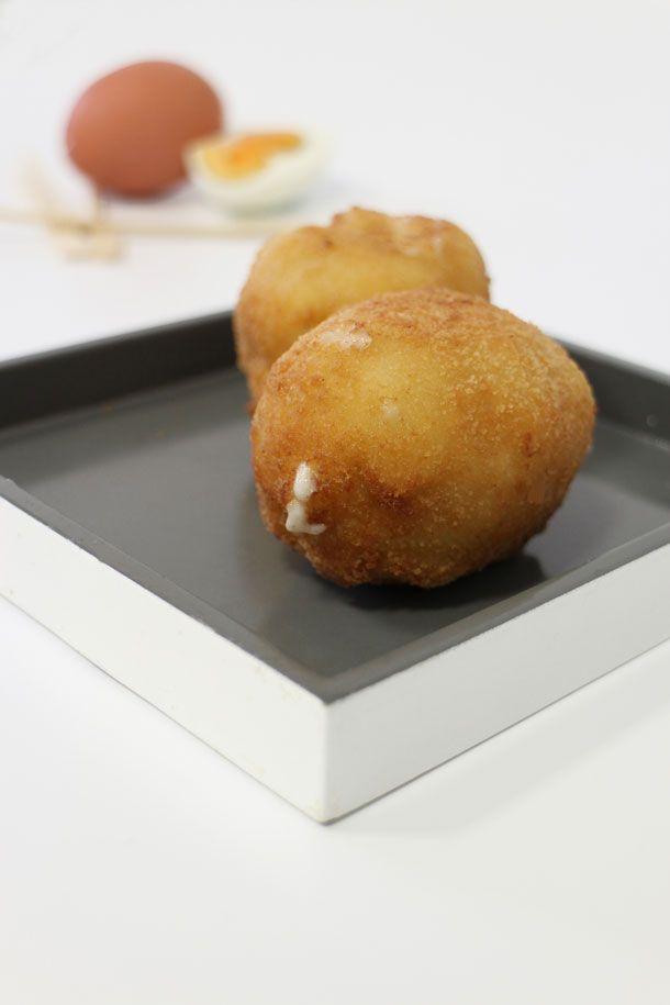 Huevos con bechamel Www.dosyemas.com