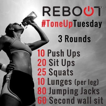 tone up tuesday - quick exercises workout