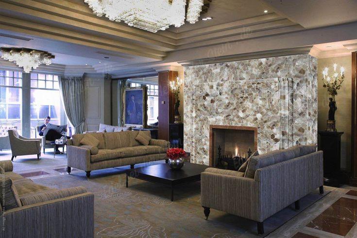 Rauchquarz Light Kamin Wandgestaltung Edelstein | Wohnzimmer   Design Mit  Edelsteine | Pinterest | Lights