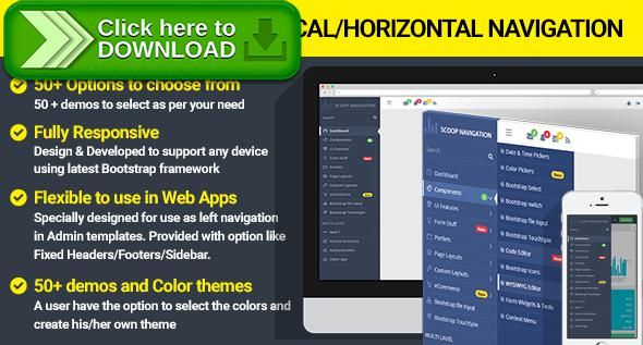 [ThemeForest]Free nulled download Dropdown Sidebar Menu Responsive Bootstrap Navigation from http://zippyfile.download/f.php?id=52517 Tags: ecommerce, bootstrap dropdown menu, bootstrap navigation, bootstrap sidebar, dropdown menu, horizontal menu, html sidebar, javascript dropdown menu, jquery dropdown menu, mega menu, mobile menu, responsive drop down menu, responsive mega menu, responsive website menu, sidebar menu, vertical menu