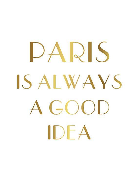 Paris is Always a Good Idea Poster Print 16x20 Wall Art on Etsy, $10.00