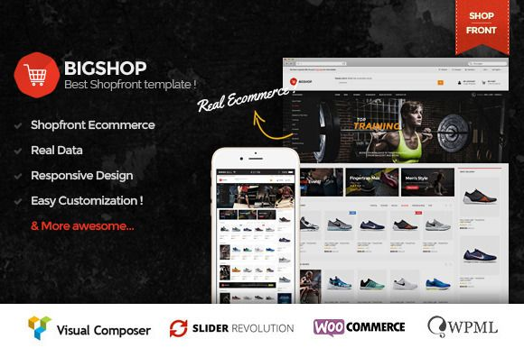 Bigshop - Responsive eCommerce Theme by ThemeAlien on @creativemarket