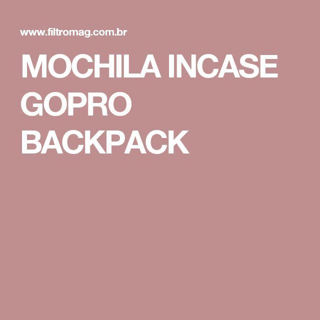 MOCHILA INCASE GOPRO BACKPACK