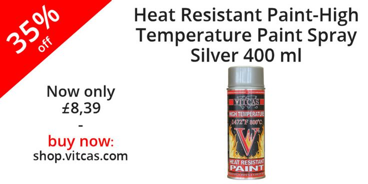 Heat Resistant Paint-High Temperature Paint Spray-Silver now 35% off. Buy now: http://shop.vitcas.com/vitcas-heat-resistant-paint-high-temperature-paint-spray-silver-704-p.asp