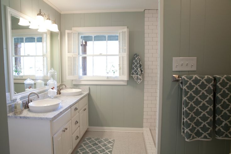 As seen on HGTV's Fixer UpperGrey Bathrooms, Kids Bathroom, House'S Bathroom, Bedrooms Bathroom, Hgtv S Fixer, Bathroom Ideas, Kid Bathrooms, Bright Bathroom, Fixer Upper