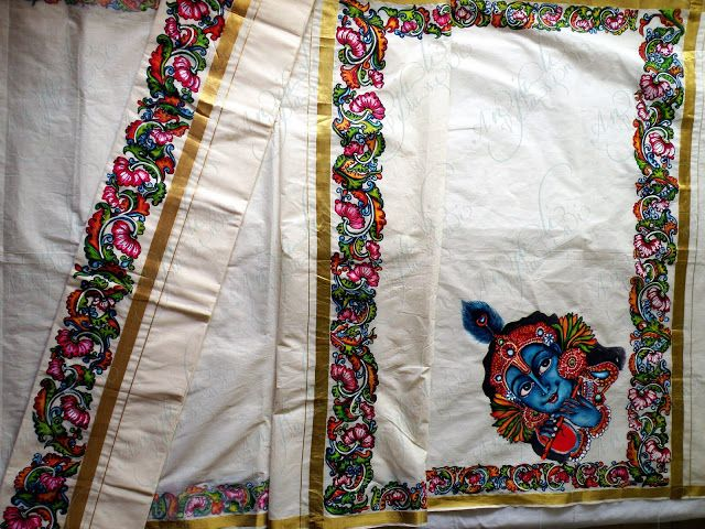 67 Best Hand Painted Sarees Images On Pinterest