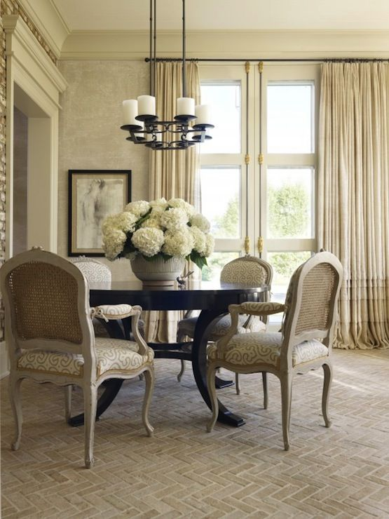 dining room design with ruffled curtains covering more dining rooms