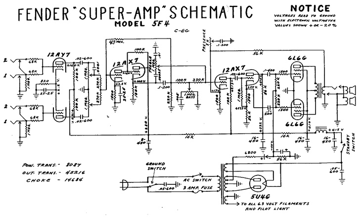 Fender    amp schematic   Music   Guitar amp  Vacuum tube