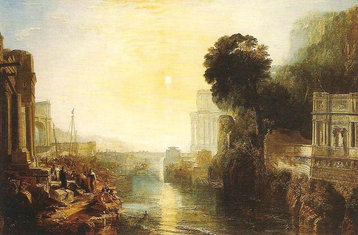 Didone costruisce Cartagine, William Turner, 1815. Olio su tela, 155,5x230 cm. Londra, National Gallery